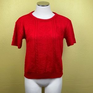 Vintage rose sweater top no size found maybe SP